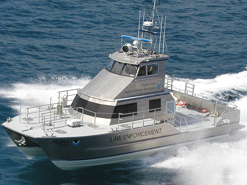 Florida Keys National Marine Sanctuary Enforcement Boat.